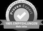 Proven Expert 100% Empfehlungen