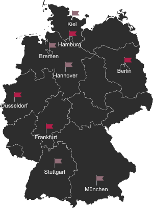 Deutschland Karte - Unsere Standorte